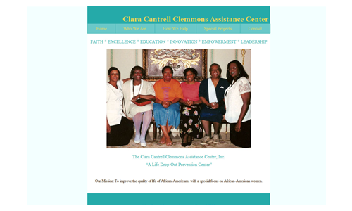Clara Cantrell Clemmons Assistance Center Special Homepage Design