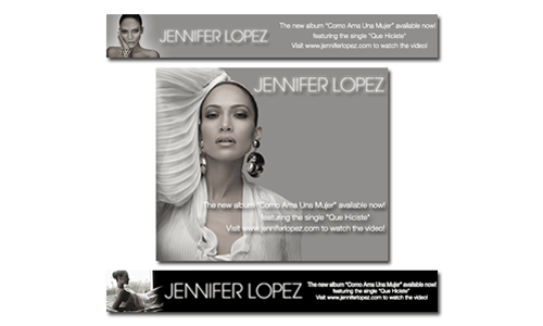 Sony Music Entertainment Jennifer Lopez Banner Ads