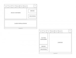 CMPNY Case Study Wireframe Design Draft 1