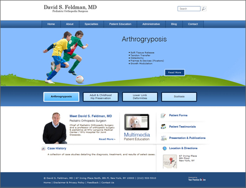 David S. Feldman, MD Website Homepage