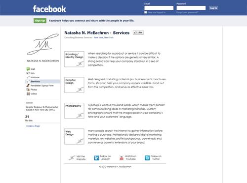 Natasha N McEachron Facebook Services Page