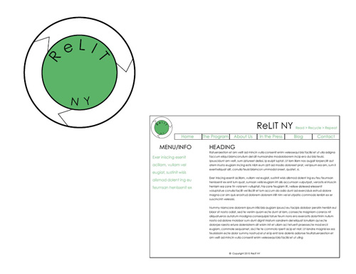 ReLit NY Case Study Logo & Website Design