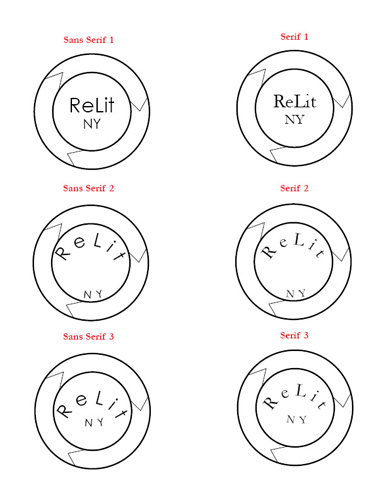 ReLit NY Case Study Refined Logo Design Sketches and Fonts