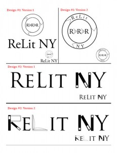 ReLit NY Case Study Logo Design Sketches