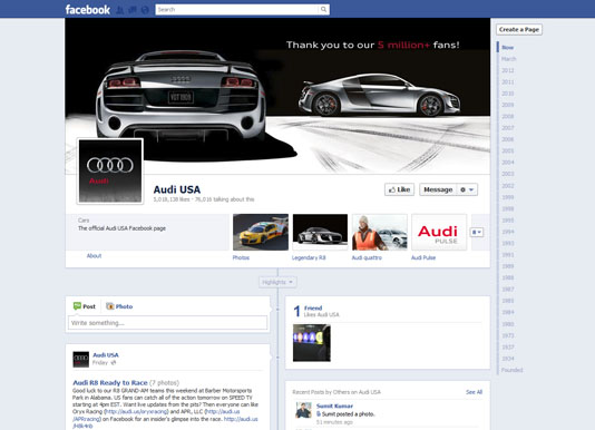 Audi Facebook USA