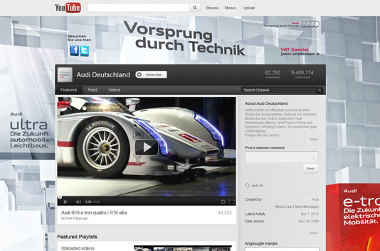 Audi YouTube Germany