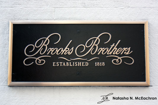 Brooks Brothers Store Signage