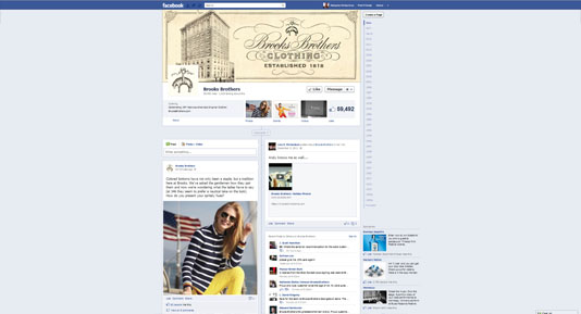 Brooks Brothers Facebook Page