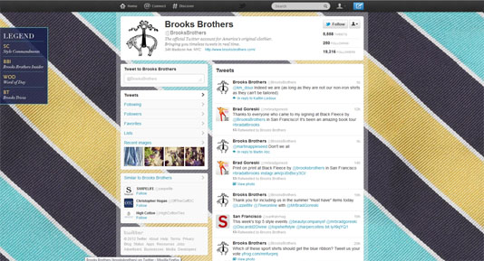 Brooks Brothers Twitter