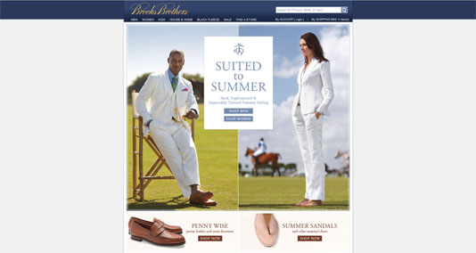 Brooks Brothers Website
