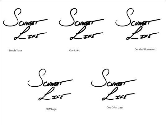 Schweet Life Logo Design Live Trace