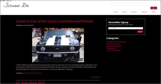 Schweet Life Website Blog