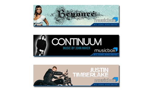Sony Music Entertainment Banner Ads