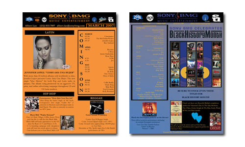 Sony Music Entertainment Newsletters