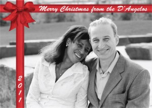 D'Angelos Completed Christmas Card