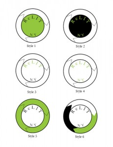 ReLit NY Case Study Logo Design Color Options