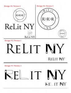 ReLit NY Case Study Logo Design Sketches