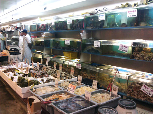 J Mart Lobsters, Crabs, Clams, Jellyfish, etc